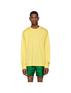 Yellow Elwood Face Long Sleeve T Shirt by Acne Studios