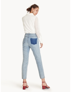 Light Wash Straight Leg Jeans by Pomelo