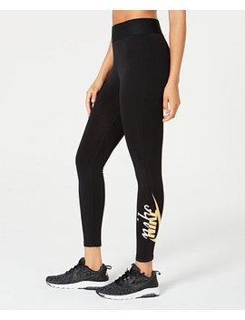 Sportswear High Rise Metallic Logo Leggings by Nike