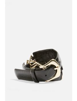 Geometric Link Vinyl Belt by Topshop