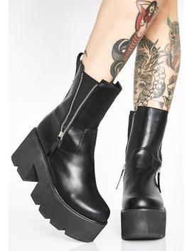 Ain't Trippin' Platform Boots by Lamoda