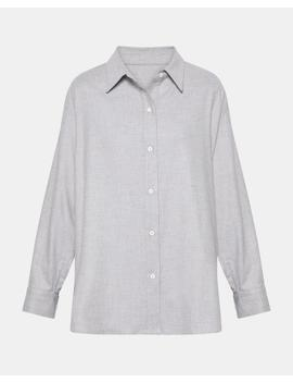Pacific Flannel Relaxed Button Down by Theory