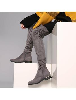 Jiro Flat Over The Knee Boots by Koi Footwear