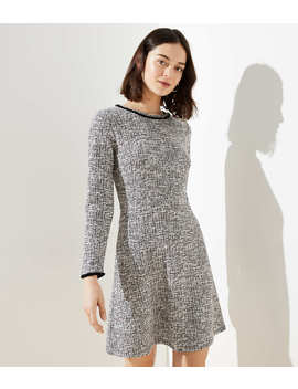 Shimmer Boucle Flare Dress by Loft