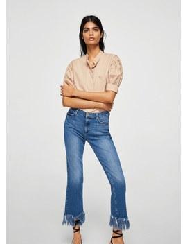 Jeans Terminaciones Deshilachadas by Mango