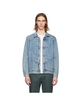 Blue Type Ii Worn Jacket by Levi's Made & Crafted