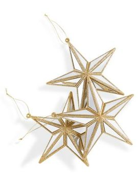 3 Pack Gold Star Baubles by Marks & Spencer