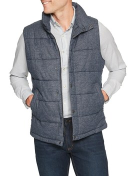 Heather Quilted Vest by Banana Republic Factory