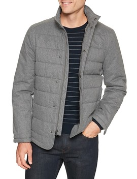 Water And Stain Resistant Heather Quilted Jacket by Banana Republic Factory