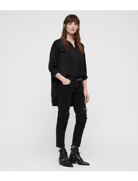 Rylee Satin Shirt by Allsaints