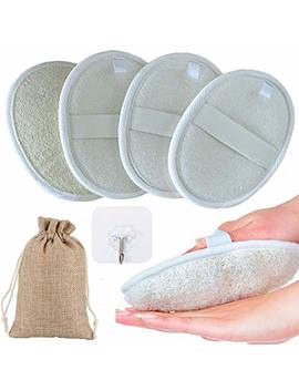 4 Packs Exfoliating Loofah Sponge Pads, Zuext Loofah Body Scrubber, Loofah Pads, Natural Luffa Loofah Sponge For Men And Women, Perfect For Bath Shower And Spa, Travel Bag And... by Zuext