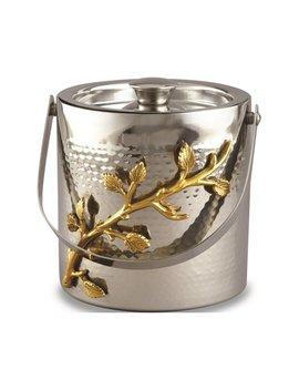 Stainless Steel Golden Vine Hmmrd Ice Bucket by Jewelry By Sweet Pea