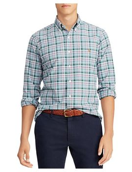 Plaid Classic Fit Oxford Shirt by Polo Ralph Lauren