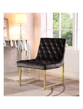 Tatiana Velvet Chair In Black by Pier1 Imports