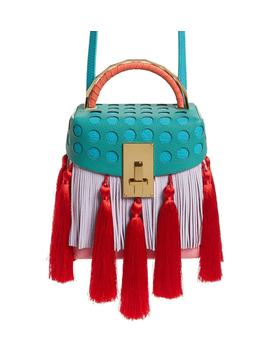 Tassel Great Leather Box Bag by The Volon