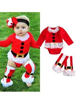 Toddler Baby Girl Boy Tops Romper+Leg Warmers 2pcs Xmas Outfits Set Clothes by Emmababy