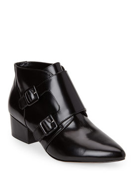Black Roree Buckled Ankle Boots by French Connection