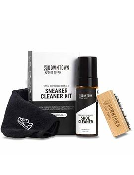 Biodegradable Shoe Cleaner Kit   Downtown Shoe Supply Co.   For Suede, White Shoe, Golf Shoe, Canvas, Fabric, Rubber And Sole. All In One Kit For Easy Shoe Cleaning by Downtown Shoe Supply