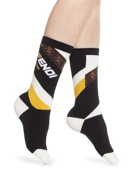 X Fila Mania Logo Socks by Fendi