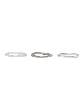 Silver Stacking Ring Set by Pearls Before Swine