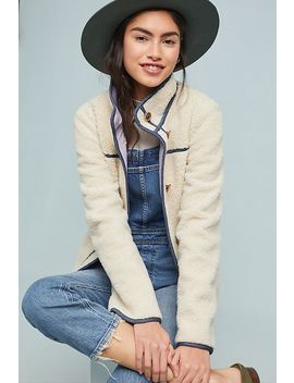 Piped Sherpa Jacket by Anthropologie