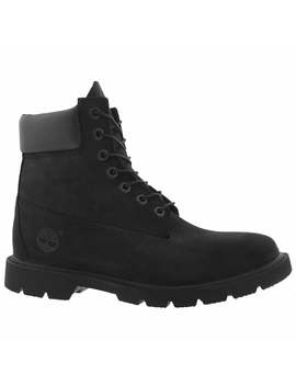 """Men's Basic 6"""" Black Lace Up Boots by Timberland"""