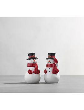 Snowman Salt & Pepper Shakers by Pottery Barn