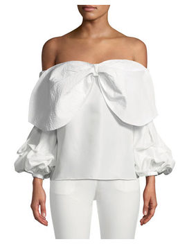 Juliette Bow Off The Shoulder Top by Style Keepers