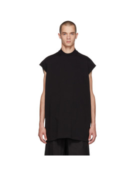 Black Mock Neck T Shirt by Rick Owens