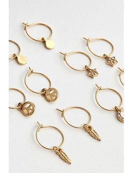 Mini Charm Hoop Earrings Pack by Urban Outfitters