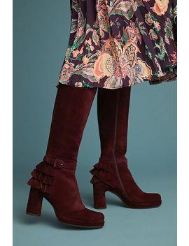 Chie Mihara Ruffled Tall Boots by Chie Mihara