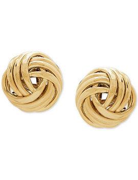 Love Knot Stud Earrings In 14k Gold by Macy's
