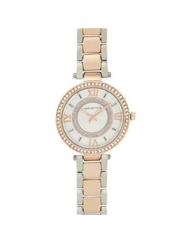 Red Herring   Ladies Rose Gold Crystal Bezel Watch by Red Herring