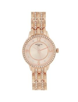 Infinite   Womens' Rose Diamante Analogue Watch by Infinite