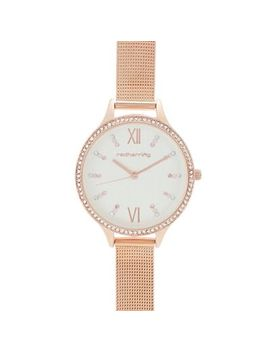 Red Herring   Womens' Rose Gold Mesh Strap Analogue Watch by Red Herring