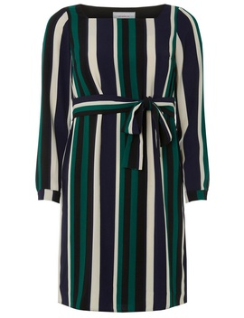 Petite Striped Shift Dress by Dorothy Perkins