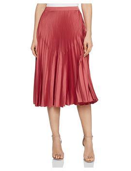 Isidora Pleated Midi Skirt by Reiss