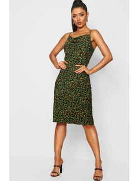 Leopard Midi Slip Dress by Boohoo