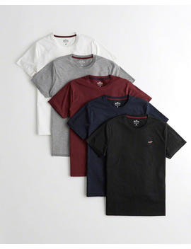 Must Have Crewneck T Shirt 5 Pack by Hollister