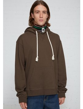 Embroidered Hood Logo Hoodie by J.W. Anderson