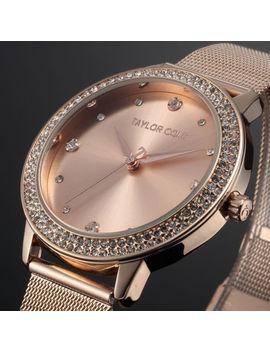 Taylor Cole Luxury Bling Crystal Stainless Steel Lady Women Quartz Wrist Watch by Ebay Seller