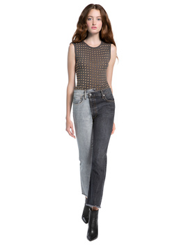 Cicely Studded Sleeveless Tee by Alice And Olivia