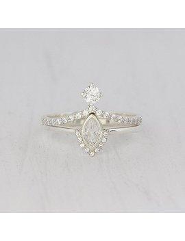 Victorian Rings Set, Antique Rings Set, 2 Rings Set, Minimalist Rings Set, Tiny Rings Set, Bridal Rings Set, Art Deco Rings Set by Etsy