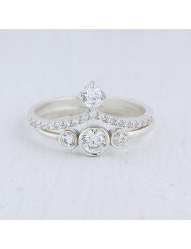 2 Rings Set, Wedding Rings Set, Silver Rings Set, Tiny Rings Set, Dainty Rings Set, Bridal Rings Set, Minimalist Rings Set, Women Rings Set by Etsy