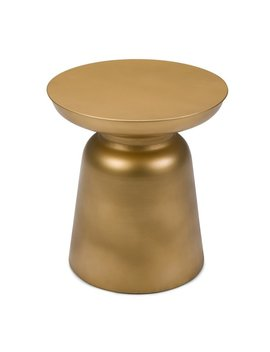 Wyndenhall Layne Metal Accent Drum Side Table In Gold by Wynden Hall
