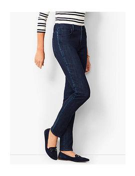 High Rise Straight Leg Jeans   Beaded Tuxedo Stripe by Talbots