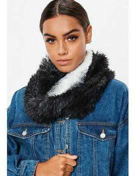 Black Faux Fur Snood by Missguided