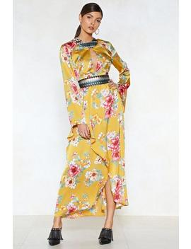 The Flower Of Goodbye Maxi Dress by Nasty Gal