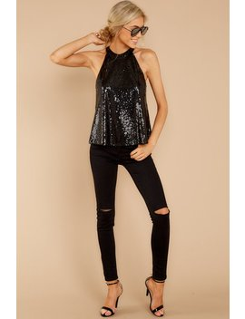 Sequins Of Events Black Top by She + Sky