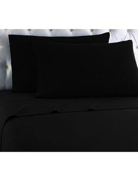 Empire Home Heavy Winter Flannel 100 Percents Cotton Sheet Set Fitted Flat Pillow Cases Deep Pocket   Black   Queen Size by Empire